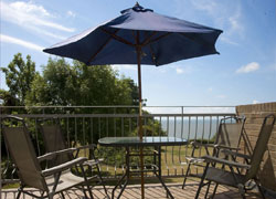 Balcony at the holiday lettings in Isle of Wight